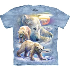 Kids' T-shirt with Short Sleeve Polar Bears