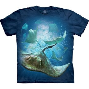 Kids' T-shirt with Short Sleeve Sea Stingrays