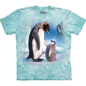 Kids' T-shirt with Short Sleeve Penguins on Iceberg