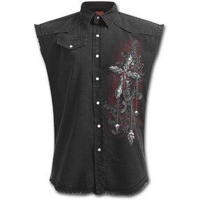 Košeľa bez rukávov Kríž temnoty