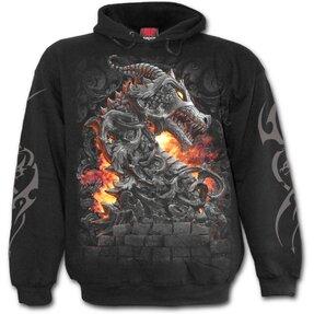 Sweatshirt mit Kapuze Drache, Festungswächter