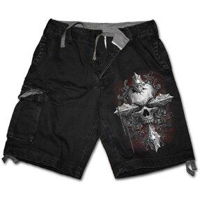 Pánske krátke nohavice Kríž v lebke