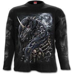 Pánske tričko s dlhým rukávom Temný jednorožec