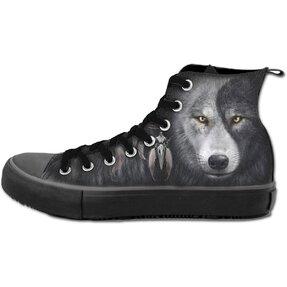 Dámské černé tenisky Tvář vlka