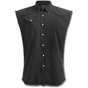 Košeľa bez rukávov Plus Size Čierna