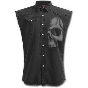 Košeľa bez rukávov Temná lebka