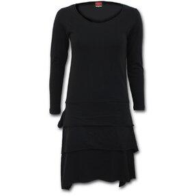 Šaty s dlouhým rukávem Černé