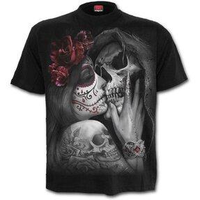 Tricou Cu motiv Sărutare moartă