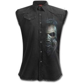 Košeľa bez rukávov s motívom Lebka s maskou