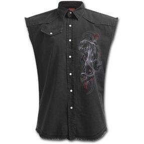 Košeľa bez rukávov s motívom Nahnevaný panter
