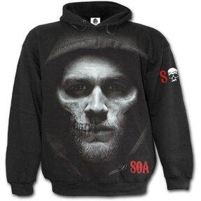 Sweatshirt mit dem Motiv Sons of Anarchy Halb-Schädel