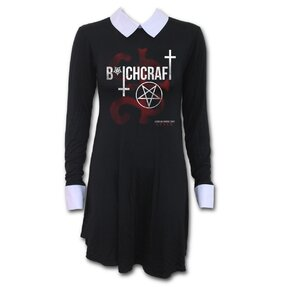 Női ruha gallérral American Horror Story Coven - Bitchcraft motívummal