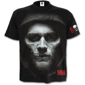 T-shirt with design Sons of Anarchy Half Skull