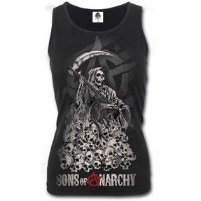 Ladies' Tank Top with design Sons of Anarchy Reaper Skulls