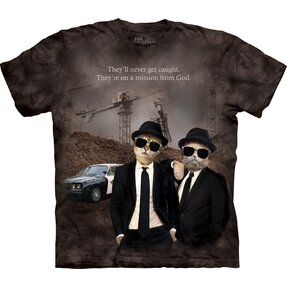 T-Shirt Kurzarm Katzen The Blues Brothers