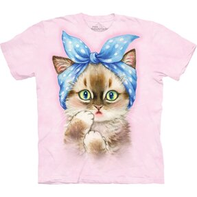 T-shirt with Short Sleeve Retro Cat
