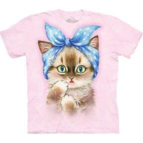 T-Shirt Kurzarm Retro Katze