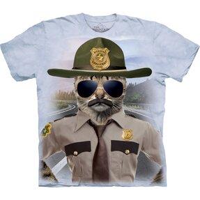 T-Shirt Kurzarm Katze Polizist