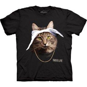 Tricou cu mânecă scurtă Pisica Tupac