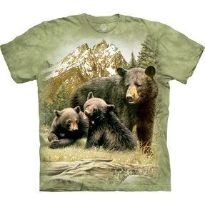T-shirt with Short Sleeve Bear with Cubs