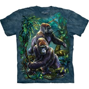 T-shirt with Short Sleeve Gorillas in Jungle