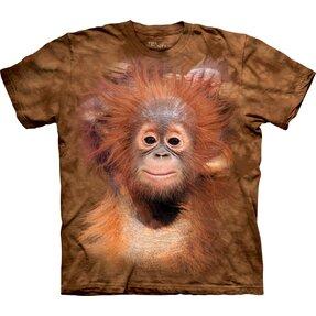 T-Shirt Kurzarm Orang-Utan-Jungtier