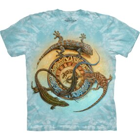 T-shirt with Short Sleeve Circle of Reptiles