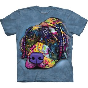 T-shirt with Short Sleeve Russo Labrador Gaze