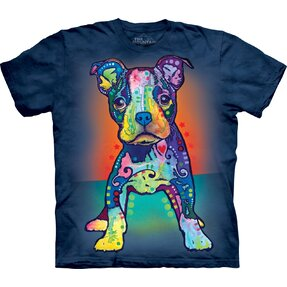 T-shirt with Short Sleeve Russo Pitbull Puppy