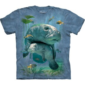 T-shirt with Short Sleeve Manatees