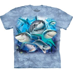 T-shirt with Short Sleeve Sharks Selfie