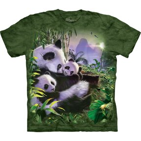 T-shirt with Short Sleeve Panda Family