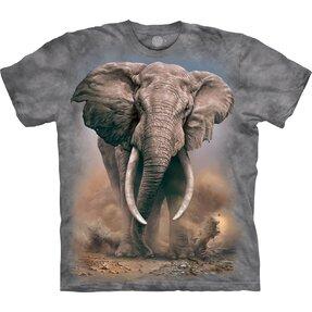T-Shirt Kurzarm Wütender Elefant
