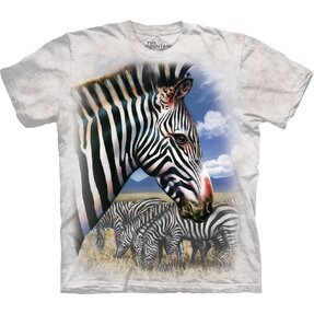 T-shirt with Short Sleeve Zebras in Nature
