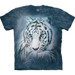 T-shirt with Short Sleeve White Tiger Gaze