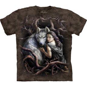 Tričko s krátkym rukávom Lesná víla a vlk