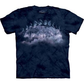 T-shirt with Short Sleeve Moon and Wolf Cycles