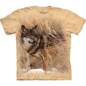T-Shirt Kurzarm Wolf auf Jagd