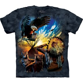 T-shirt with Short Sleeve Life of Native Americans
