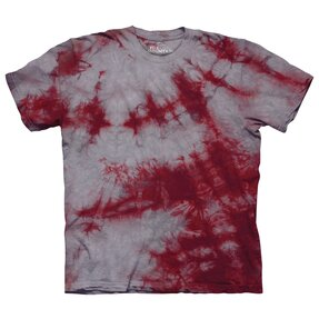 T-Shirt Karmesinrot-grau