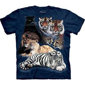 Tričko Koláž velkých koček