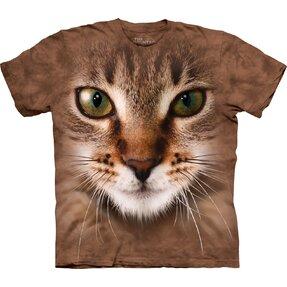 T-Shirt Gestreifte Katze Gesicht