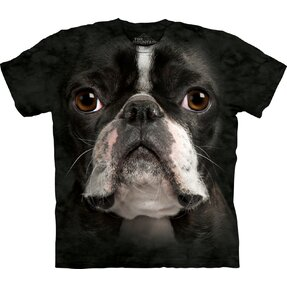 T-Shirt Boston Terrier Gesicht