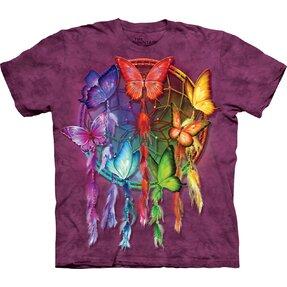 T-Shirt Regenbogen-Traumfänger mit Schmetterlingen