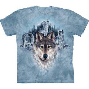 Tričko Modří vlci a měsíc