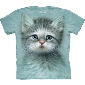 T-Shirt Katze mit blauen Augen