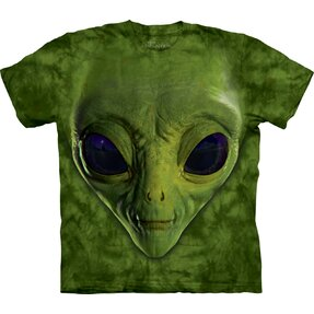 Green Alien Face Adult