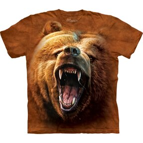 T-Shirt Wütender Bär Grizzly