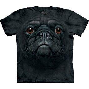 Tričko Obličej černého mopslíka