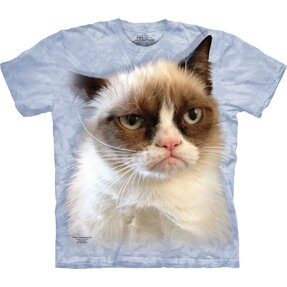 Blaues T-Shirt Grumpy Cat